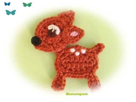 ♥ REH ♥ Bambi Rehkitz Rehlein von Maeusespatz auf DaWanda.com