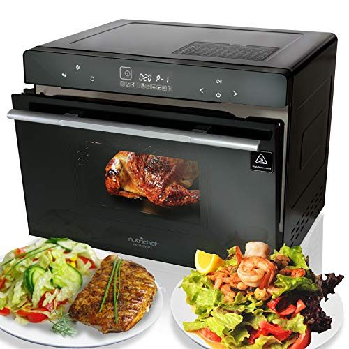 Electric Countertop Multifunction Convection Oven 1800w 42qt Smart Digital Stainless Steel Compact Kitchen Black Rotisserie Toaster W Baking Pan Grill Rack T Oven Cooker Countertop Oven Multifunction Ovens
