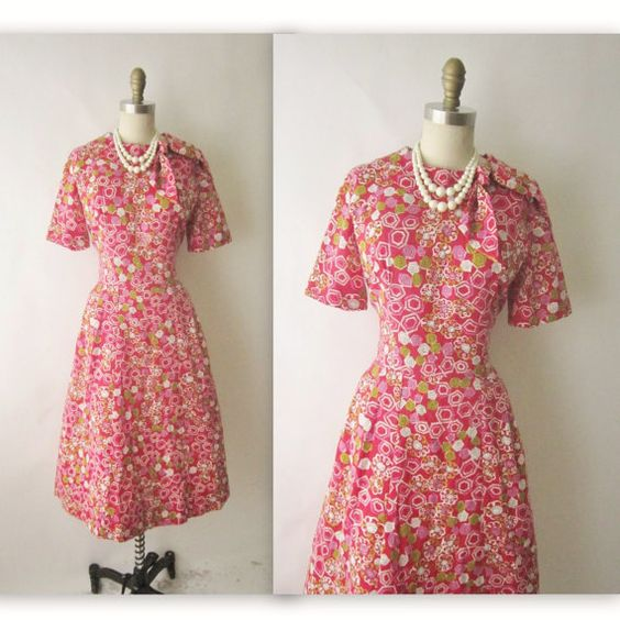 60's Day Dress // Vintage 1960's Mid Century by TheVintageStudio, $56.00