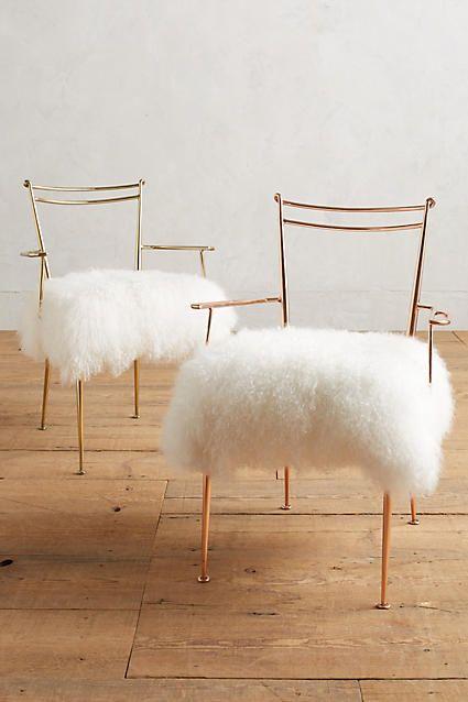 Shag Puff Dressing Chair