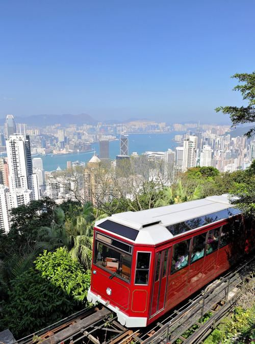 The Peak on Hong Kong Island is arguably Hong Kong's most popular attraction, since it lays claim to the most unbelievable views of the city and its harbors. To reach the top, journey via the Peak Tram, a funicular that's about 135 years old.