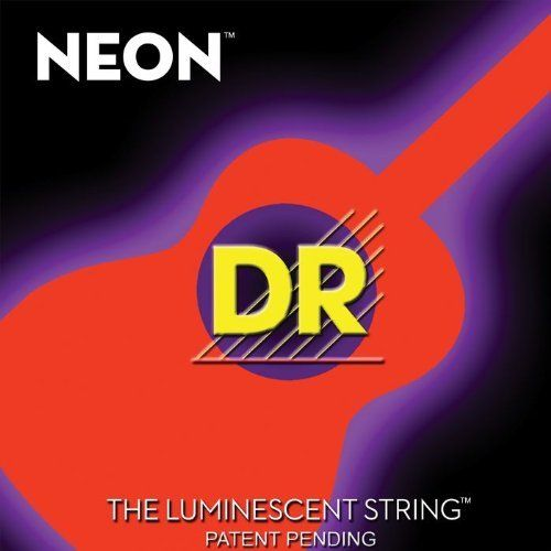DR Strings NOA-11 Neon HiDef Phosphorescent Orange Acoustic Strings Medium-Light (Standard) by DR Strings. $13.99. A vibrant string that glows.. Save 28%!
