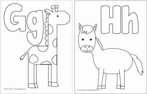 Free Printable Alphabet Coloring Pages Alphabet Coloring Pages