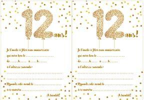 Carte D Invitation D Anniversaire 12 Ans Invitation Anniversaire Carte Invitation Anniversaire Invitation Anniversaire A Imprimer
