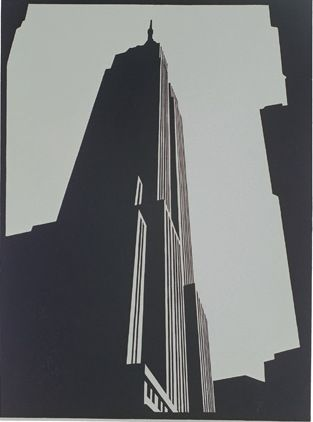 Empire Black linocut by Paul Catherall