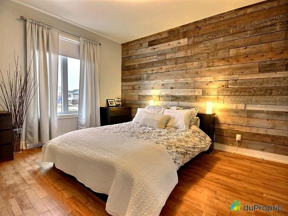 Mur de bois projets essayer pinterest pots tages for Decoration chambre a coucher en photo