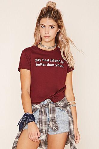 Camiseta texto Best Friend