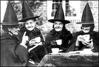 I told Martha at the last tea party that if she kept it up, I'd turn her into a newt.