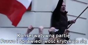 EParliament's spot about Polish nationalist - and well known in Poland agent provocateur - mr Hadacz - who has many friendly photos with previous President Mr Komorowski; shit!!! Fot. Europartv