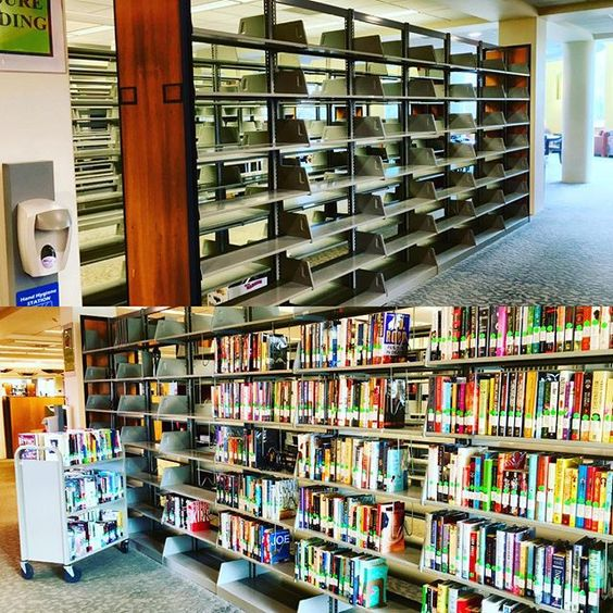 We are making some changes on the first floor of the #library. Today, the library staff emptied the shelves on the south side of the building because the stack configuration will ever changing. Here's a before and after photo. #Stonehill #StonehillLibrary Dec 2015