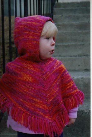 Knitting Pattern Baby Poncho With Hood : Ponchos, Childrens poncho and Poncho patterns on Pinterest