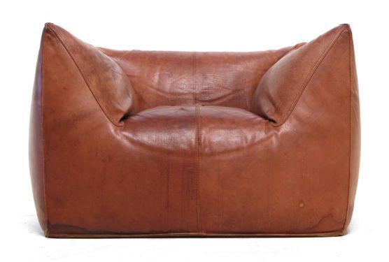 Mario Bellini For B Italia Le Bambole Buffalo Leather Chair