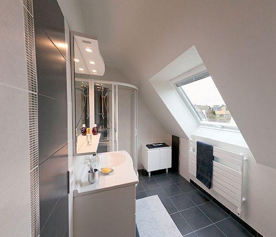 Galeries photo goyat entreprise sdb pinterest - Amenagement petite salle de bain sous comble ...