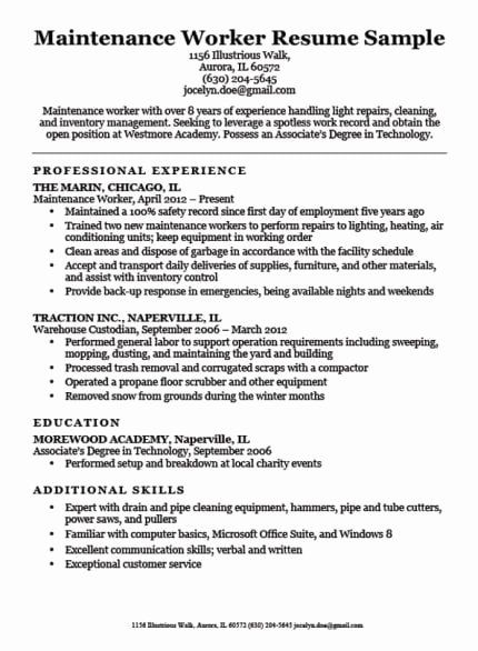 Entry Level Warehouse Resume Elegant Construction Labor Resume Sample In 2020 Dental Hygiene Resume Warehouse Worker Warehouse Jobs