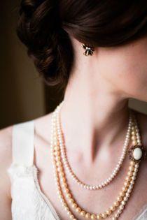 my mother and grandma's pearls, jcrew earrings
