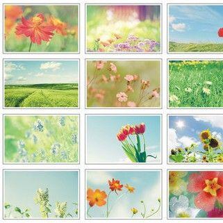 Pas cher Le murmure de fleurs et de l'herbe thème cartes postales concepteur…