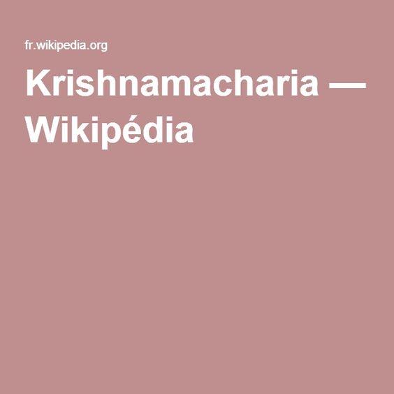 Krishnamacharia — Wikipédia