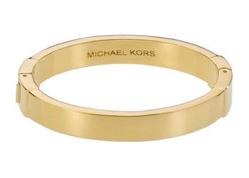 Michael Kors - Hinge Bangle Bracelet Just $71.25 on luxurybuddy.com