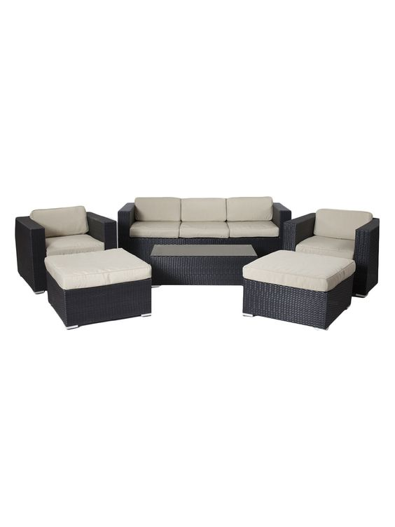 Shadow Sofa Set (6 PC) by Pangea Home at Gilt