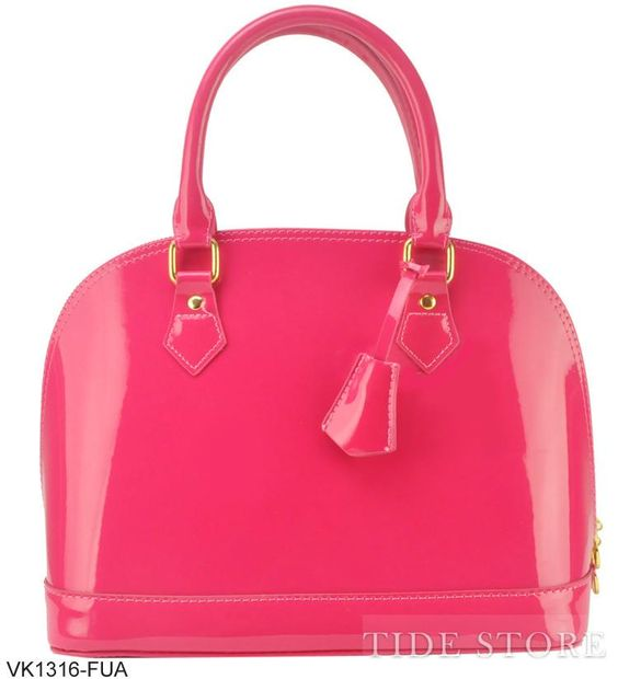 Celebrity Pop Star Temperament Patent Leather Women's Handbag