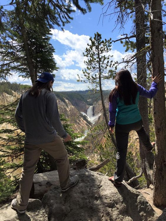 Sun & Ski customers exploring Yellowstone National Park in their Chacos and Columbia apparel. #loveyourgearshowcase