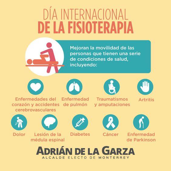 Ayer fue día de la fisioterapia, mis felicitaciones a quienes se dedican a esta profesión! Adrián de la Garza.