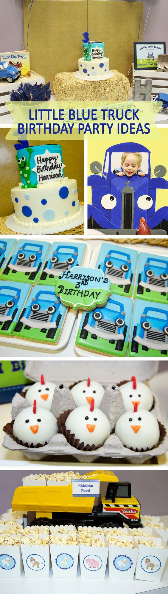 Little blue truck brithday party ideas, Little blue truck birthday theme party…