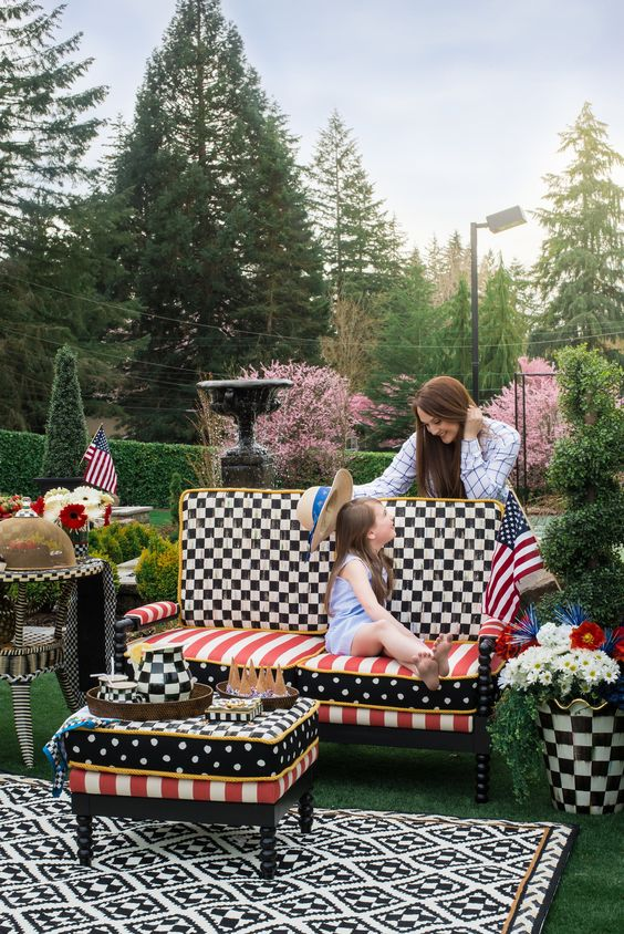 MacKenzie Childs Outdoor Summer Patio - 4th of July Decor | House of Five