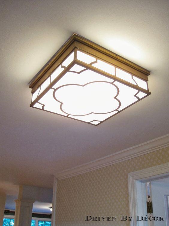 Flush mount kitchen ceiling light low profile flush for Low ceiling kitchen