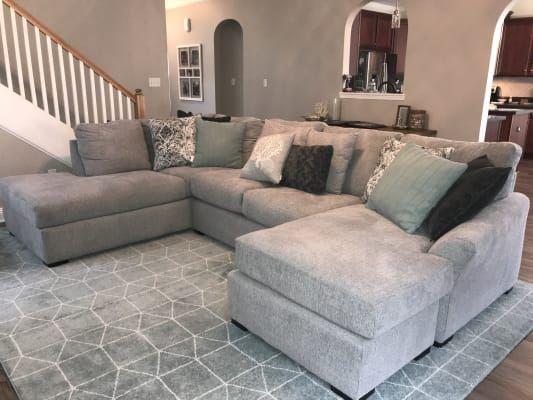Broyhill Naples Living Room Sectional Big Lots In 2020 Living Room Sectional Taupe Living Room Sectional Living Room Small