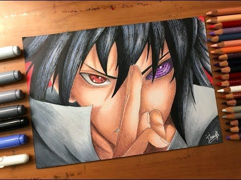 Speed Drawing Sasuke Uchiha S Sharingan Rinnegan Naruto