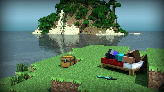 /r/minecraft: Island paradise