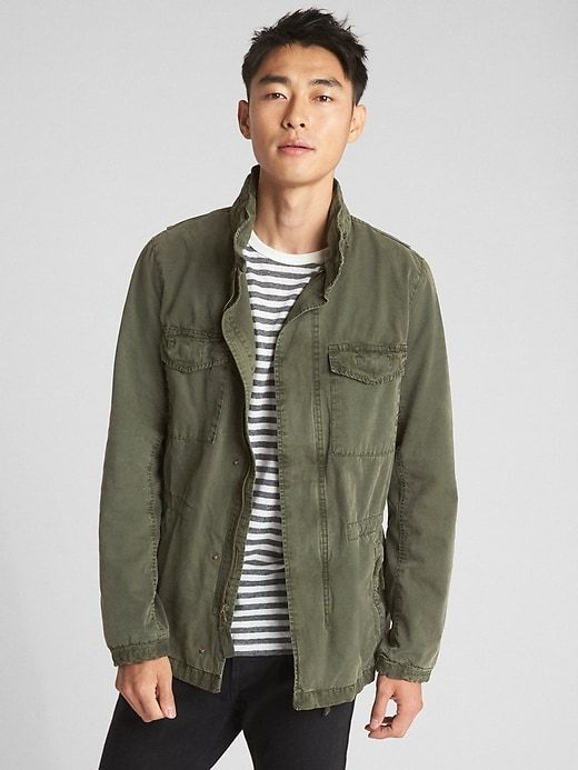 Military Jacket With Hidden Hood In 2019 Military Jacket