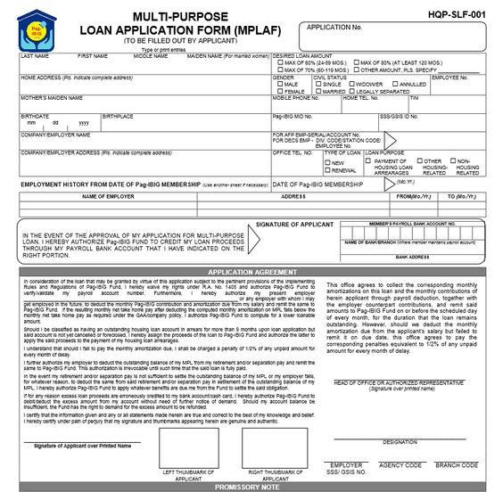 Pag Ibig Loan Application Form No Bake Pinterest Loan - certified payroll form