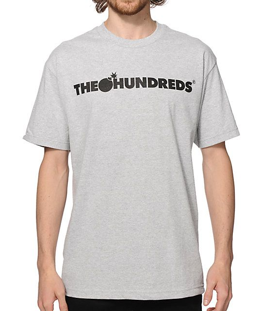 Clean up your street style with a classic black The Hundreds forever bar logo graphic at the chest and a small black bomb logo graphic at the upper back.