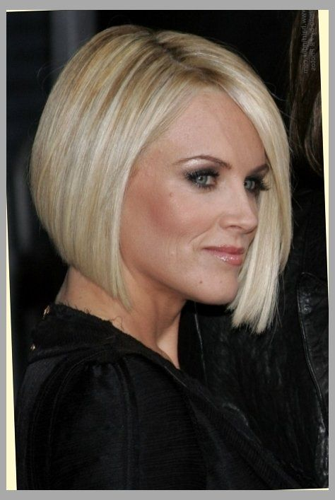 Hair Cut In A Jenny Mccarthy Bob To Soften A Strong Jaw Line Intended For Jenny…