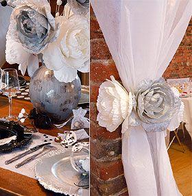 La Pivoine Géante Pailletée de Décoration avec Tige donnera à votre mariage un air féerique. Vous pouvez créer avec de magnifiques bouquets.