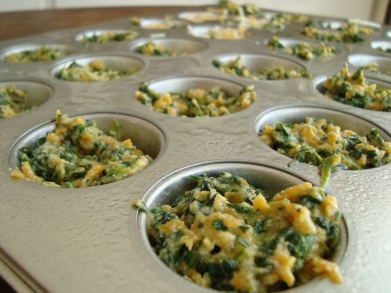 Spinach and Sweet Potato Quiche- 2 P+ per full sized muffin using recipe builder!!
