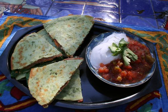 Meatless Monday – Meat and Dairy Substitutions - Spinach Beanadillas     #MeatlessMonday #vegan