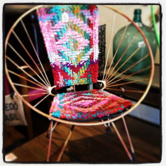 Colour burst chair #kaleidoscope #colour #musthave #kingstyleliving #armchair