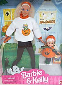 1997 Target Halloween Fun Barbie & Kelly Dolls