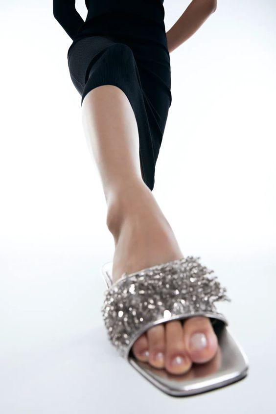 Shimmer Sandals Zara