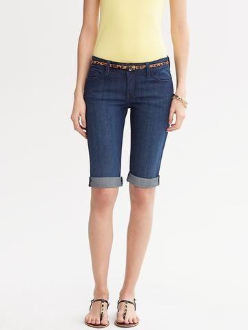 Knee Length Denim Shorts - The Else