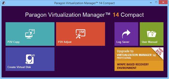 Фукусима по жизни.: Paragon Virtualization Manager 14 Compact - беспла...