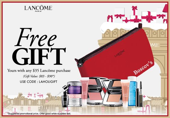 Lancome free gift with $35 purchase at Boscov's. http ...
