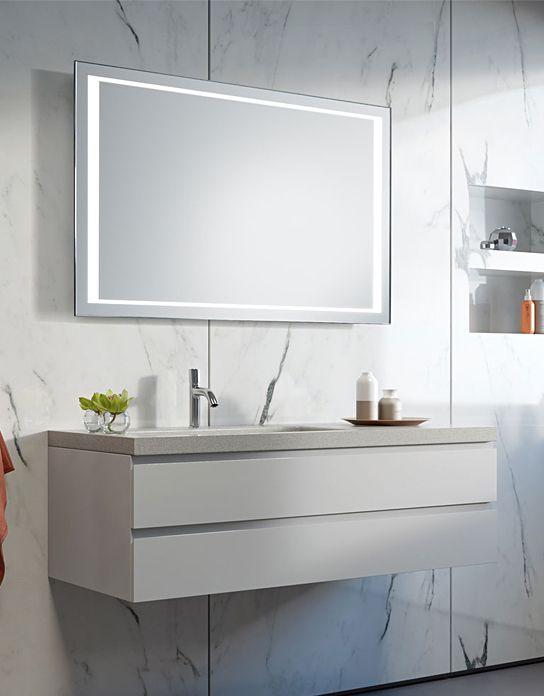 Lustro łazienkowe Window Led Z Oświetleniem Led