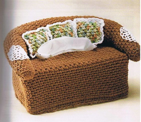 Crochet Couch Tissue Box The Arms Go Over Too Far Watch
