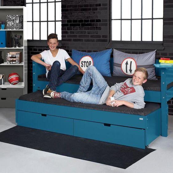 Kojenbett Kids Town Color Violett 140 200 Cm In 2020 Kids Storage Toddler Bed Toy Storage