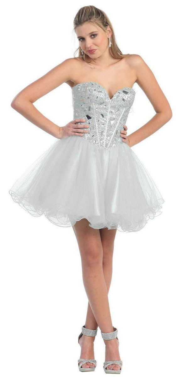 Short Homecoming Sequins Formal Prom Cocktail Dress