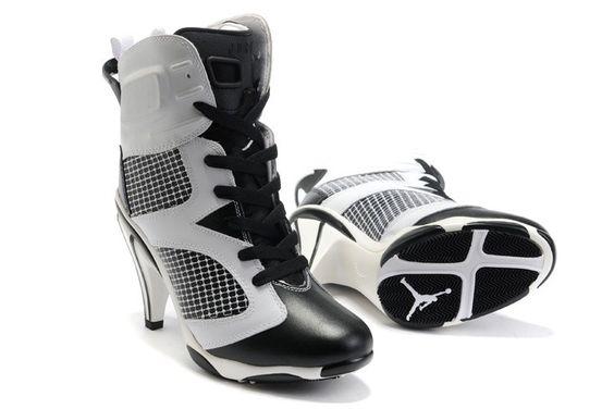 Nike Air Jordan 6 tacchi alti stivali neri vendita calda bianco